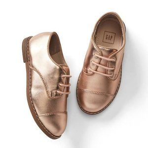 Gap Shiny Rose Gold Lace Up Oxford Shoes